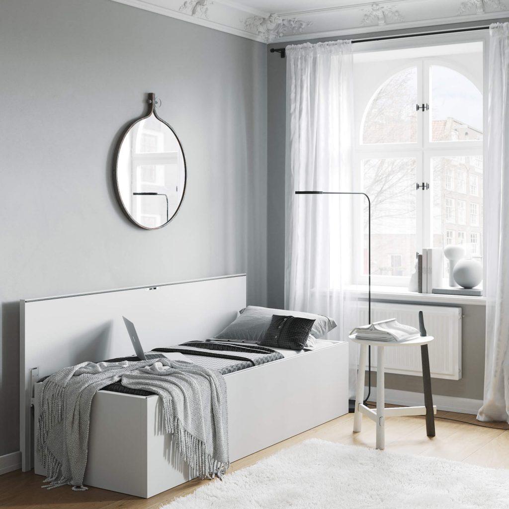 Tablebed Single White - WFH setup